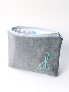 Monogram Cosmetic Bag Personalized Bridesmaid Gift