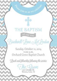 Modern Twins Baptism Invitation | Quatrefoil Baby Dedication ...