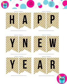 printable new year eve party banner 2015 diy gold by kidspartyroom kidspartyroom diy printable pary new year 2015 happy