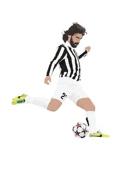 Andrea Pirlo A3 cartel: Italia Buffon 297mmx420mm por EntireDesign