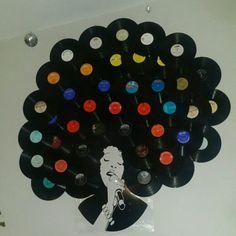 Lauren hill vinyl wall art Vinyl Record Art, Vinyl Wall Art, Vinyl Records, Disco Birthday Party, 70s Party, Disco Party Decorations, Stage Decorations, Recycled Cd Crafts, Motown Party
