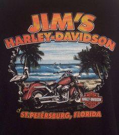 Harley Davidson Mens XL Jim's FL Black Graphic Long Sleeve Thermal Riding Shirt #HarleyDavidson #Thermal
