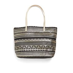 Perfect for work or play, this metallic boho printed canvas tote can be worn day or night. Throw in your laptop for the office or your tablet while traveling. (Stitch Fix Adele Graphic Print Tote)