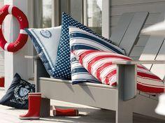 L'esprit Long Island / Long Island spirit : www.maison-deco.com/deco-par-style/decoration-bord-de-mer/Tout-l-esprit-Long-Island
