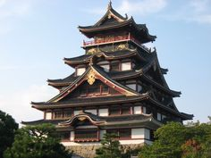 Fushimi Castle, also known as Momoyama Castle in Kyoto. The present structure of the restoration in 1964. The construction of the original c...