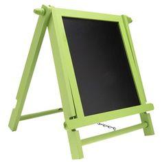 Lime Green Wood Standing Blackboard
