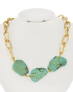Gold Tone / Turquoise Stone / Lead&nickel Compliant / Necklace