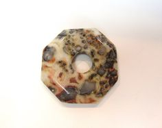 Crazy Lace Agate Donut Stone Octagonal Pendant Go go Patterned Large Natural Stone Markings Wholesale Jewelry Supply CrazyCoolStuff
