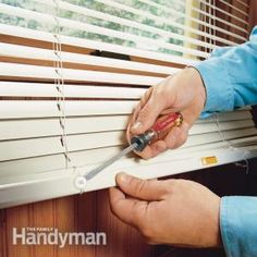 Shortening Horizontal Window Blinds #DIY #HowTo - Get the instructions: http://www.familyhandyman.com/windows/shortening-horizontal-window-blinds