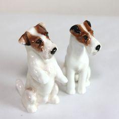 Pair of Royal Doulton Sealyham terriers, K3 & K8, seated