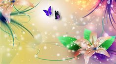 Hd Desktop, Tinkerbell, Hd Wallpaper, Stained Glass, Lily, Bright, Floral Backgrounds, Art, Wallpaper In Hd