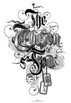 The chosen few lettering design ideas for typography lovers Chicano Lettering, Tattoo Lettering Fonts, Graffiti Lettering, Types Of Lettering, Lettering Styles, Typography Letters, Typography Images, Typography Served, Typography Poster