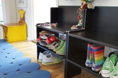 IKEA PS 2012 bench with shoe storage. Painted, solid pine and stackable to suit your needs. Designer: Francis Cayouette