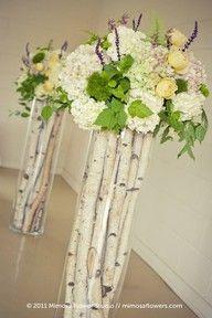 Nice idea... good start...   tall branch centerpiece