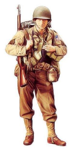 American GI WWII, I can imagine my father, member of Airborne in North Africa, looking like this. Military Art, Military History, World History, World War Ii, Ww2 Uniforms, Military Uniforms, American Soldiers, Armed Forces, Special Forces