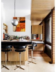 Diy Home Bar, Bars For Home, Australian Architecture, Australian Homes, Interior Garden, Interior Design, Architecture Awards, Victorian Terrace, Bedroom With Ensuite
