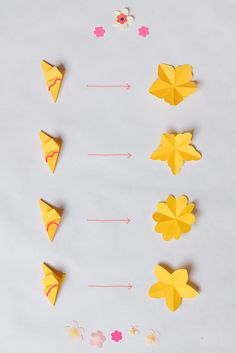 Head to the webpage to see more on Origami Designs Paper Flower Wreaths, Tissue Paper Flowers, Origami Flowers, Flower Crafts, Diy Flowers, Paper Butterflies, Diy Paper, Paper Crafts, Diy And Crafts