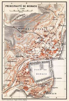 Monaco, city #map, 1913. I remember walking into the casino…