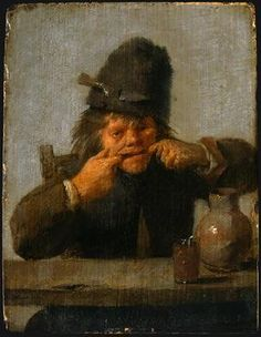 Youth Making a Face(1633)  Adriaen Brouwer