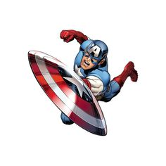Captain America - Avengers Assemble Wall Jammer Wall Decal Wall Art... ($70) ❤ liked on Polyvore