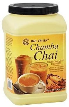 Chamba Chai Spiced Chai Latte Mix, Six 4 Lb. Containers