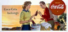 Coca-Cola Picture Vintage Art | Coca Cola Coke Belongs Vintage Poster Fine Art Giclee Print ...