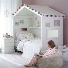 54 Minimalist Kids Bedroom Design Ideas On A Budget - About-Ruth Teenage Girl Bedrooms, Little Girl Rooms, Bed For Kids, Kids Bedroom Ideas For Girls Tween, Kids Bedroom Ideas For Girls Toddler, Toddler Day Bed, House Beds For Kids, Bedroom For Girls Kids, Toddler Room Decor