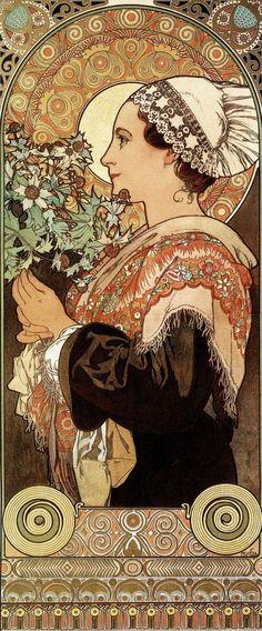Alfons Mucha's Art Nouveau works