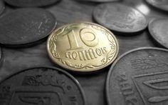 壁紙をダウンロードする 金, hryvnia, 10セント, マクロ, コイン, ウクライナでの金