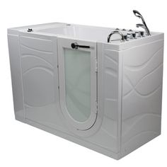 """Ella Walk In Bath Zen Acrylic 52"""" x 30"""" Whirlpool Bathtub Massage Type: Air Massage, Faucet: Thermostatic Faucet, Additional Features: Heated Seat ... #WhirlpoolBathtubs"""