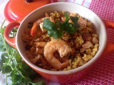 cuscuz marroquino de camarão
