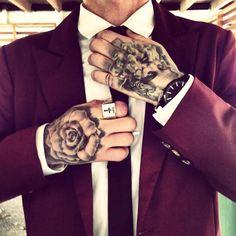 Tattu in Burgundy Suit
