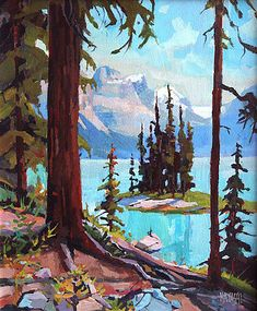 The Canadian painter Randy Hayashi is an outstanding artist in the mountain . The Canadian painter Randy Hayashi is an outstanding artist in the mountain galleries of the Fairmont. Art Watercolor, Watercolor Landscape, Abstract Landscape, Landscape Paintings, Painting Abstract, Acrylic Paintings, Abstract Portrait, Landscape Rocks, Impressionist Landscape