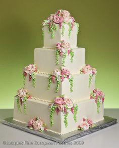 Bells Of Ireland Cake von Jacques Fine European Pastries - Cakes, Glorious Cakes! Floral Wedding Cakes, Elegant Wedding Cakes, Cool Wedding Cakes, Beautiful Wedding Cakes, Gorgeous Cakes, Pretty Cakes, Wedding Cake Toppers, Amazing Cakes, Cake Pictures