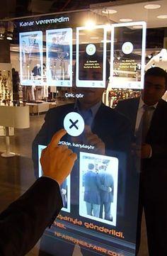 Touch-screen mirrors installed into retail outlets #Retail #Store