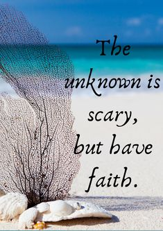 We have this fear of things we don't know about, but, keep the faith alive. You will be okay. Keep The Faith, Have Faith, Positive Words, Words Of Encouragement, Its Okay, Positivity, Inspiration, Biblical Inspiration, Pep Talks