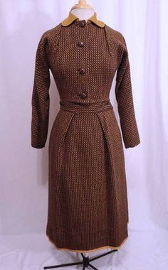 Vintage 40s Claire McCardell Wrap Skirt Crop Blazer Fine Lines Skirt Suit S   eBay; wrap skirt and jacket.