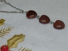 Heart Charm Necklace Gold Stone Heart Charm Necklace by Thielen Stone Heart, Heart Charm, Gifts For Mom, Jasper, Agate, Charmed, Pendant, Gold, Etsy
