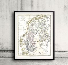 Map of Scandinavia - 1799 - FREE SHIPPING - SKU 0117 by PaulMaps on Etsy