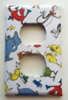 Dr Suess Outlet Cover by ModestSheep on Etsy, $4.50