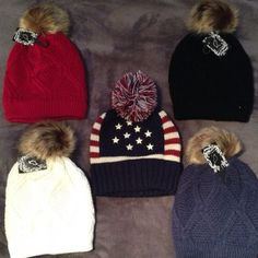 Fleece Lined Winter Hats  Please don't purchase this listing - If you would like one, please comment for which color and I will make a separate listing ☺️.                                            Brand NWT winter hats - the material is thick and inside is fleece-lined! The colors are: Black, Red/Burgundy, Ivory, and Navy. The American Flag hat is NOT fleece-lined but is still thick. The last picture looks purple but that is a Navy Hat. Great winter accessory!   ❌WHITE & RED ARE SOLD❌…
