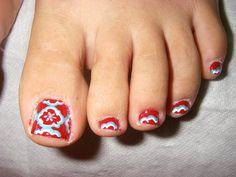 toe nail art - Google Search