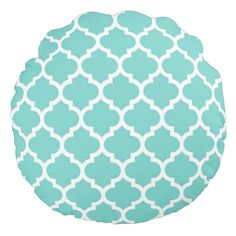 Turquoise Aqua and White Moroccan Quatrefoil Trellis Pattern Turquoise Throw Pillows, Quatrefoil Pattern, Trellis Pattern, Decorative Throw Pillows, Moroccan, Give It To Me, Aqua, Kids Rugs, Color