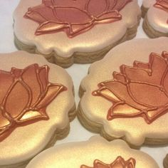 how to make lotus flower cookies