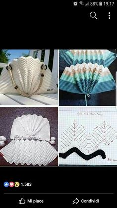Marvelous Crochet A Shell Stitch Purse Bag Ideas. Wonderful Crochet A Shell Stitch Purse Bag Ideas. Free Crochet Bag, Crochet Shell Stitch, Crochet Tote, Crochet Handbags, Crochet Purses, Crochet Stitches, Knit Crochet, Purse Patterns, Knitting Patterns