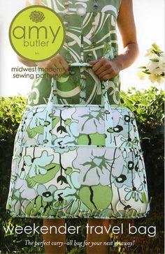 Weekender Travel Bag - Amy Butler Sewing Pattern, $12.95