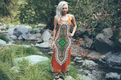 Boho chic Gaia dress Burnt Orange Hippie dress by BlondeVagabond. For the BEST bohemian fashion trends FOLLOW > https://www.pinterest.com/happygolicky/the-best-boho-chic-fashion-bohemian-jewelry-gypsy-/ < now.