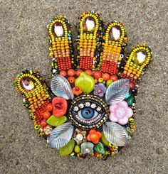 Betsy Youngquist Beaded Mosiac Sculpture
