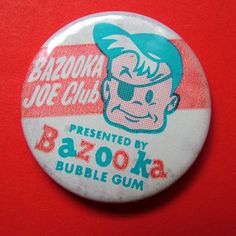 This might have been given away free with Bazooka Joe Bubble gum. The little comics inside each pack were such a great idea! Funny Buttons, Cool Buttons, Button Badge, Button Art, Pin Button, Vintage Pins, Vintage Buttons, Vintage Stuff, Vintage Art