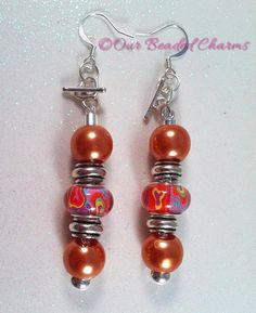Psychedelic Interchangeable Earrings by OurBeadedCharms on Etsy